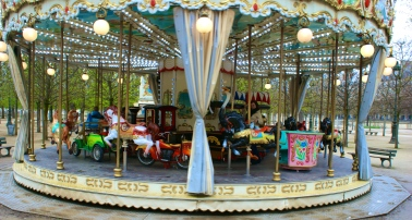 never met a merry-go-round she didn't like.