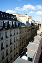 French rooftops! classic view and happy to have hotel windows that actually open!