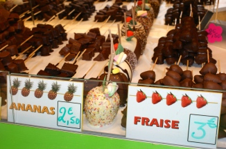 chocolat fraises . . . noms