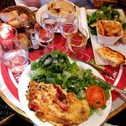 recommended in a book of kid-friendly places to go in Paris, this cafe was uncrowded and pretty basic, yet served up a delicious array of French classics. there, we finally found something Miss Girl's go-to French food: Croque Monsieur.