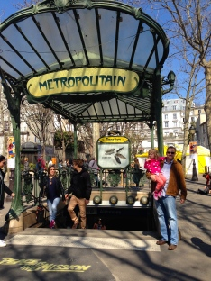 obligatory Metro photo — coming up at Montmartre.