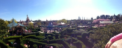 view from the Queen of Hearts' castle