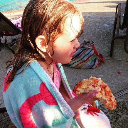 pool + pizza