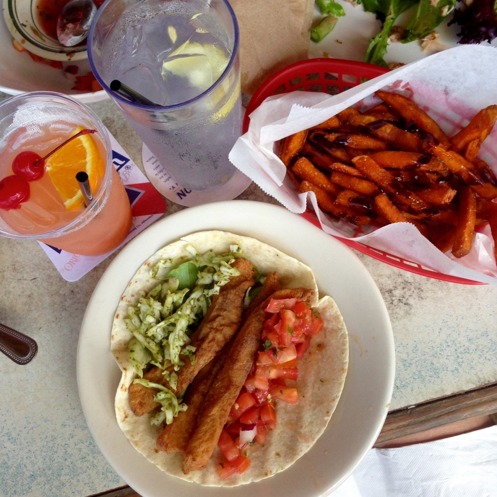 Fish Taco & Sweet Potato Fries