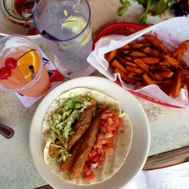 Fish Taco & Sweet Potato Fries