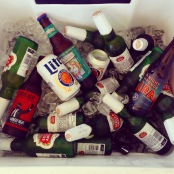 the porch cooler was definitely well stocked