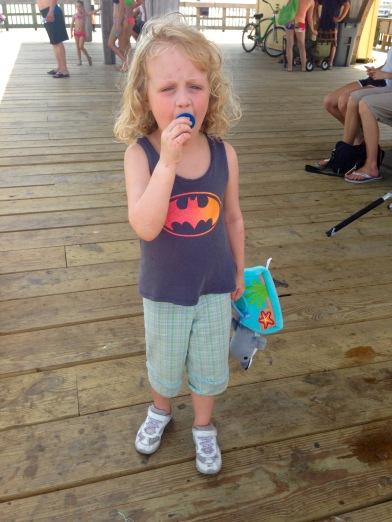 badass on the pier