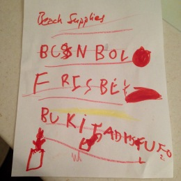 very important beach supplies list
