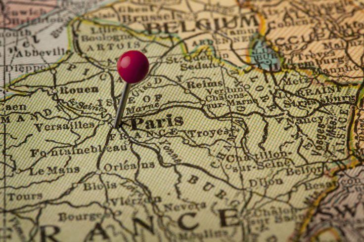 antique France map
