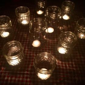 those jelly jar tea lights