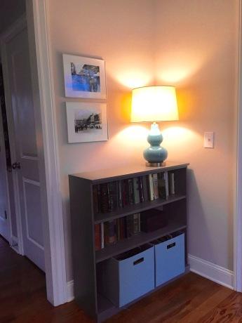 more tidy storage and a lamp i love bookshelf — Ballard Design Original Home Office lamp — Target canvas storage — Target