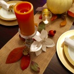 Thanksgiving table: full spread