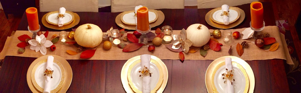 Thanksgiving table: the spread