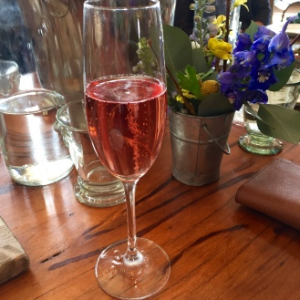 sparkling rose at Pippin Hill