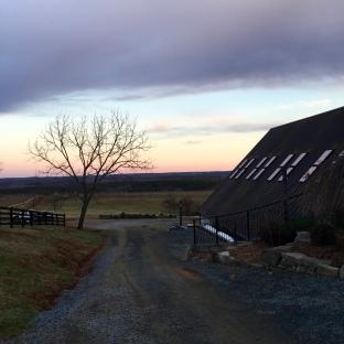 gorgeous evening sky at Blenheim