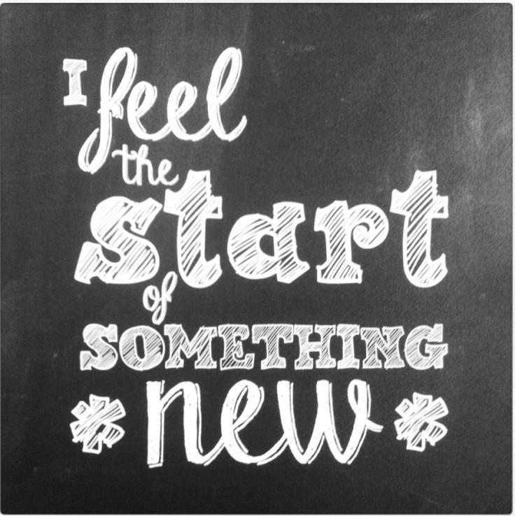 I feel the start of something new!